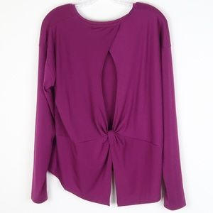 Athleta Essence Twist Back Long Sleeve Fuschia L